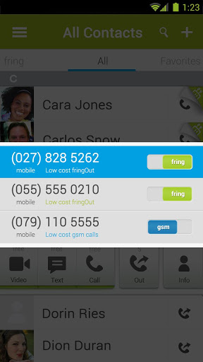 Fring is another popular Voip App for Android
