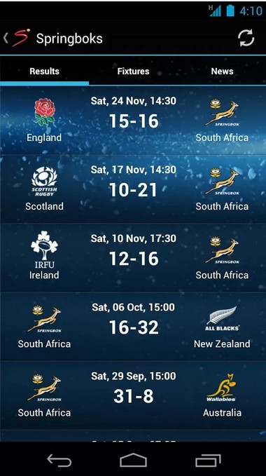 Super Sport Android App