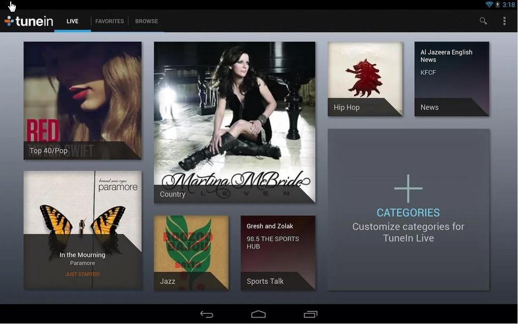 Tunein Radio Android Application
